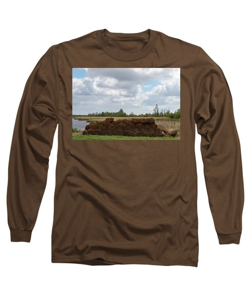 Long Sleeve T-Shirt featuring the photograph Bound Reeds by Anjo Ten Kate