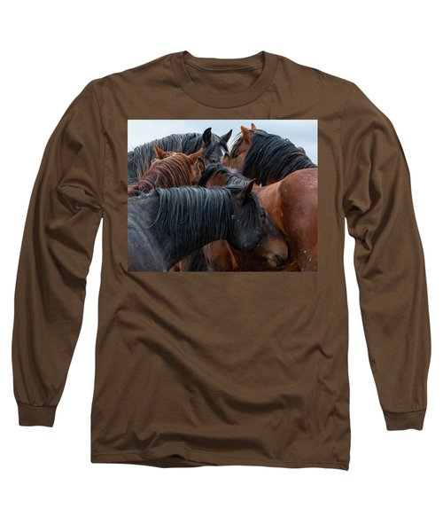 Long Sleeve T-Shirt featuring the photograph Buddies by Mary Hone