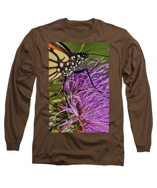 Butterfly Closeup Vertical Long Sleeve T-Shirt