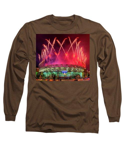 Cleveland Indians Fireworks Long Sleeve T-Shirt