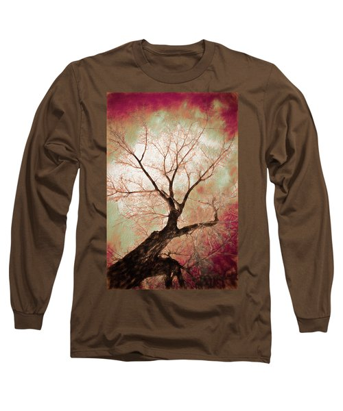 Long Sleeve T-Shirt featuring the photograph Climbing Red Fiery by James BO Insogna