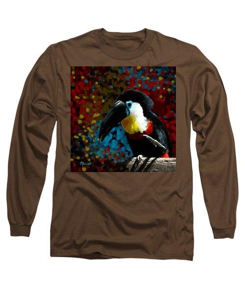 Colorful Toucan Long Sleeve T-Shirt