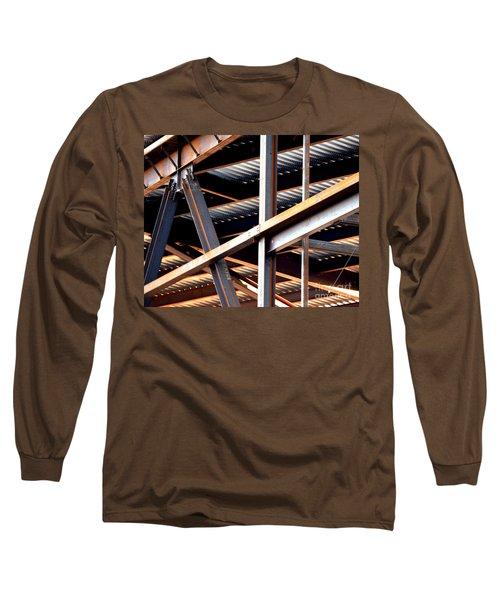 Construction Abstract Fragments Long Sleeve T-Shirt