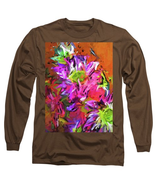 Daisy Rhapsody In Purple And Pink Long Sleeve T-Shirt