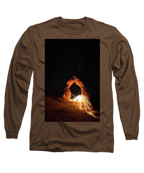 Delicate Arch Steel Wool Long Sleeve T-Shirt