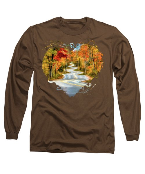 Door County Road To Northport In Autumn Long Sleeve T-Shirt