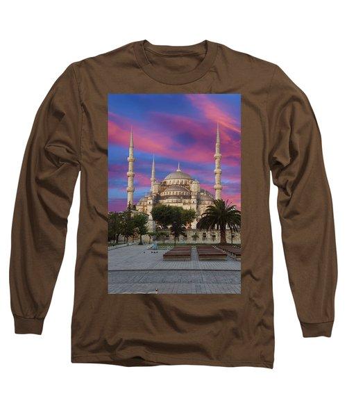 Early Morning Light On  Sultan Ahmet Camii Long Sleeve T-Shirt