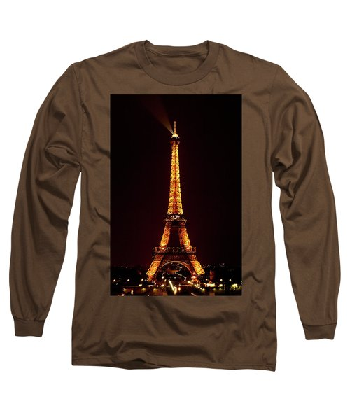 Eiffel Tower, Night Long Sleeve T-Shirt