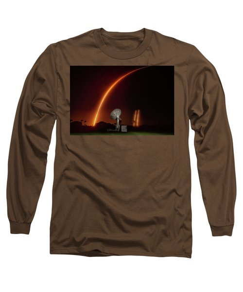 Falcon Heavy Night Launch And Landing Long Sleeve T-Shirt