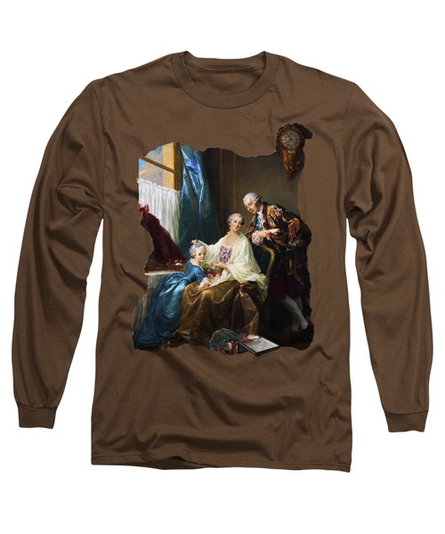 Family Portrait By Francois-hubert Drouais Long Sleeve T-Shirt