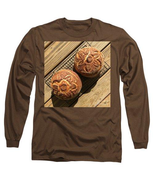 Floral Scored Sourdough Long Sleeve T-Shirt