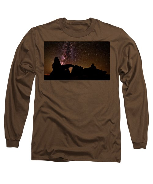 Long Sleeve T-Shirt featuring the photograph Galactic Turret Arch by Andy Crawford