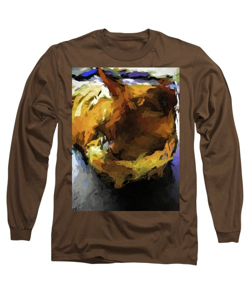 Gold Cat And The Shadow Long Sleeve T-Shirt