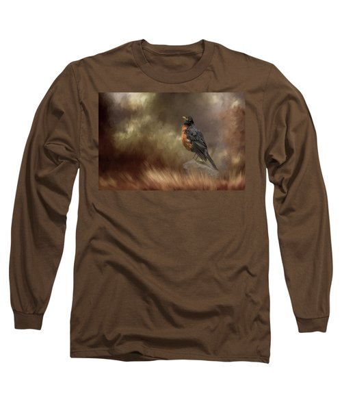 Greeting Autumn Long Sleeve T-Shirt