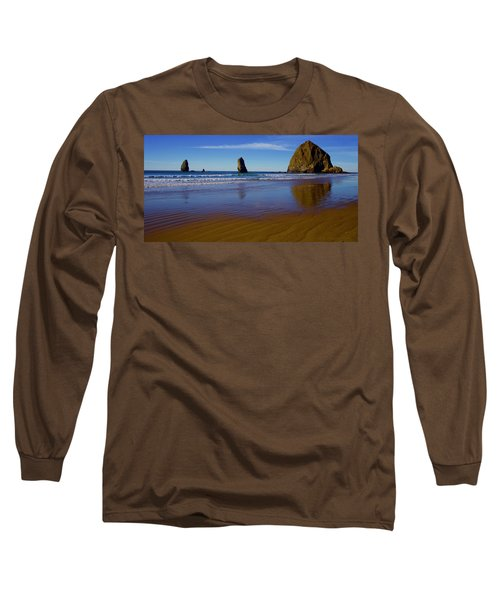 Haystack Rock Panoramic Long Sleeve T-Shirt