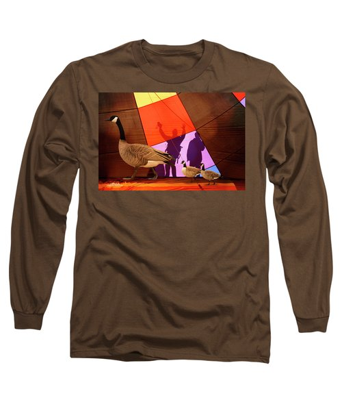 Here A Minute Ago Long Sleeve T-Shirt