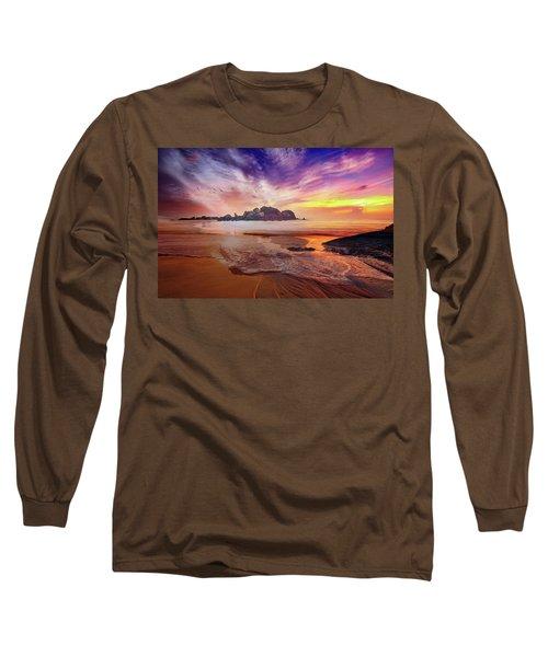 Incoming Tide At Sunset Long Sleeve T-Shirt