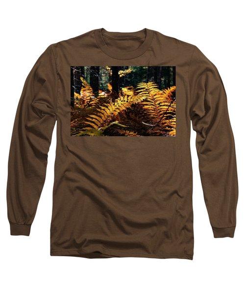 Maine Autumn Ferns Long Sleeve T-Shirt