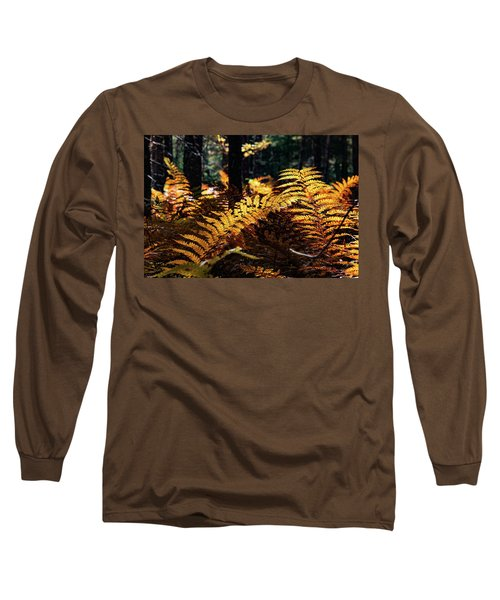 Maine Autumn Ferns Long Sleeve T-Shirt