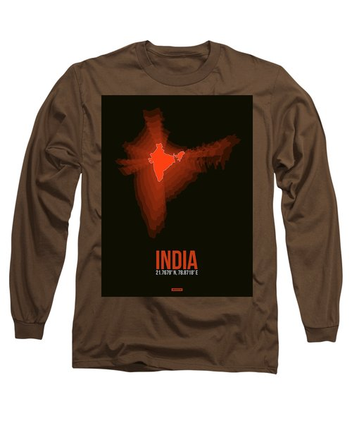 Map Of India Long Sleeve T-Shirt
