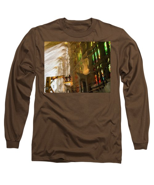Long Sleeve T-Shirt featuring the photograph Men At Work by Alex Lapidus