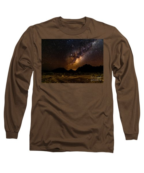 Milkyway Over Spitzkoppe 2, Namibia Long Sleeve T-Shirt