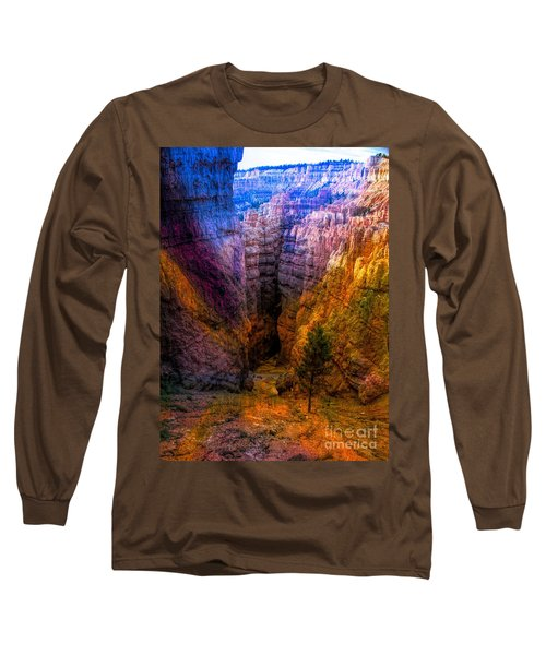 Mixed Color Bryce Canyon Colorful Hiking Trail  Long Sleeve T-Shirt