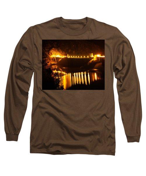 Moonlit Dam Long Sleeve T-Shirt