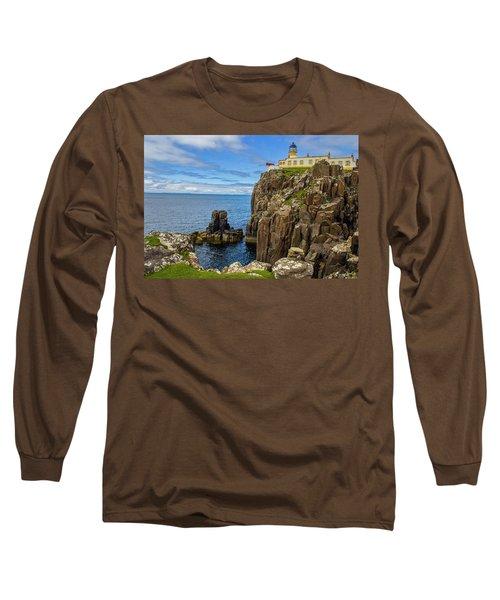 Neist Point Lighthouse Long Sleeve T-Shirt