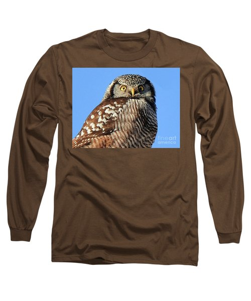 Northern Hawk-owl Long Sleeve T-Shirt