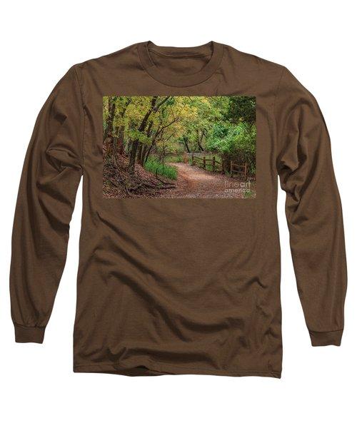 Oklahoma City's Martin Nature Park In Fall Color Long Sleeve T-Shirt