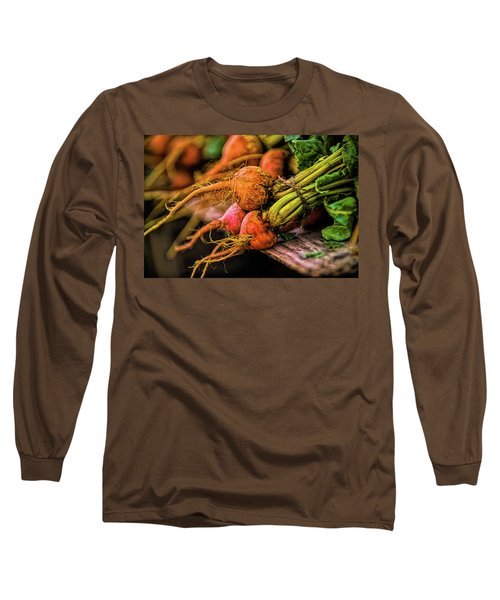 Orange Beets - Farmers Market  Long Sleeve T-Shirt