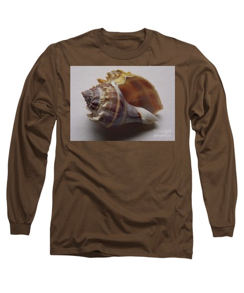 Painted Conch Shell No 20 Long Sleeve T-Shirt