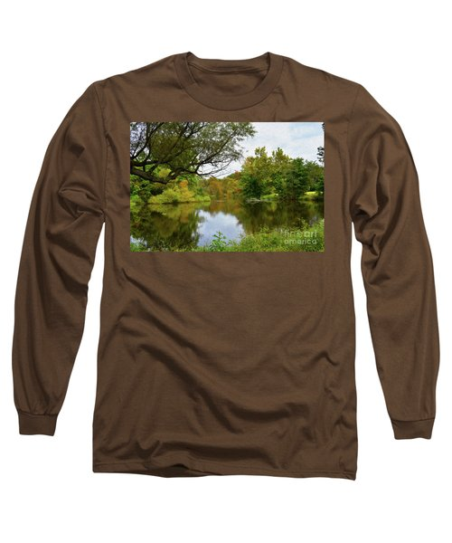 Painted Fall On The Back Pond Long Sleeve T-Shirt