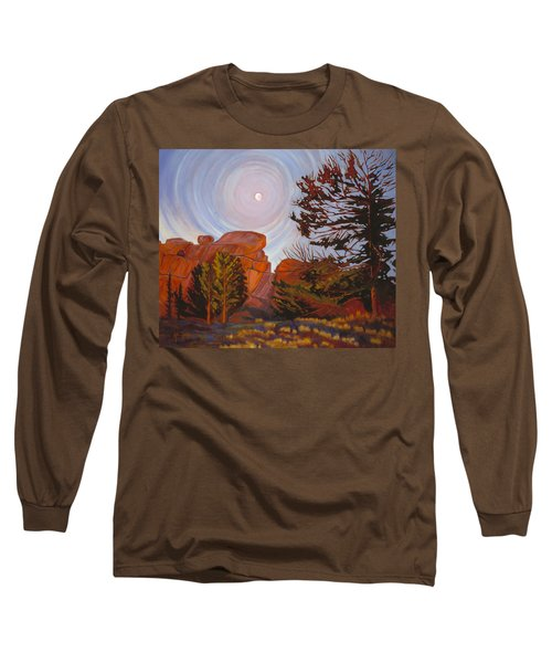 Pale Moon Over Vedauwoo Long Sleeve T-Shirt