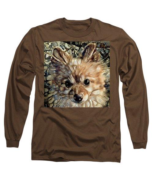 Paris The Pomeranian Dog Long Sleeve T-Shirt