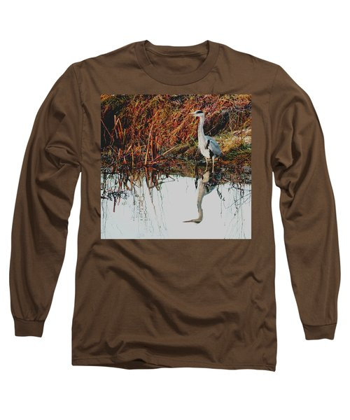 Pensive Heron Long Sleeve T-Shirt