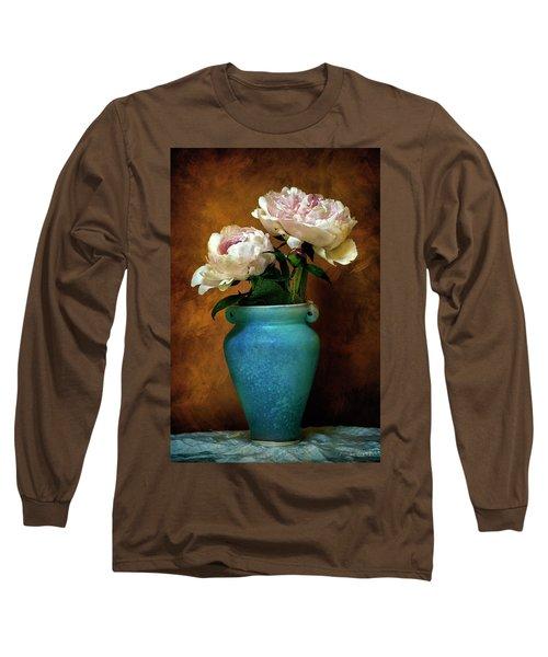 Peonies In Spring Long Sleeve T-Shirt