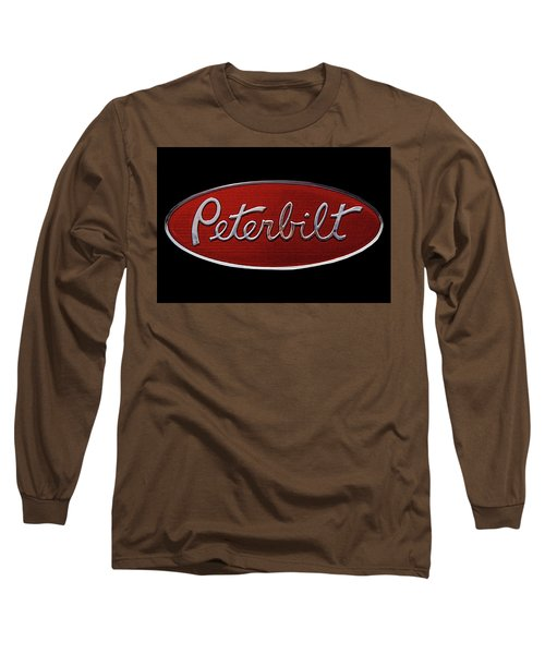 Peterbilt Emblem Black Long Sleeve T-Shirt