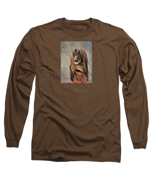 Portrait Of An Afghan Hound Long Sleeve T-Shirt