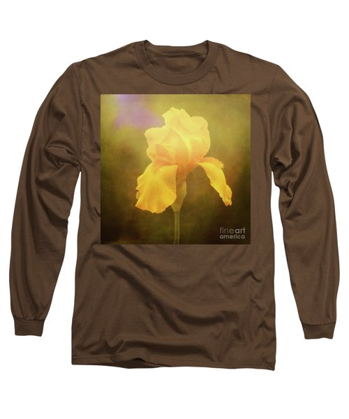 Radiant Yellow Iris With A Vintage Touch Long Sleeve T-Shirt