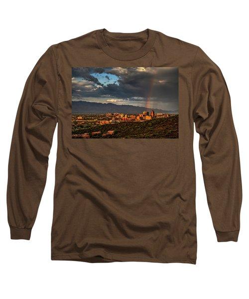 Rainbow Over Tucson Long Sleeve T-Shirt