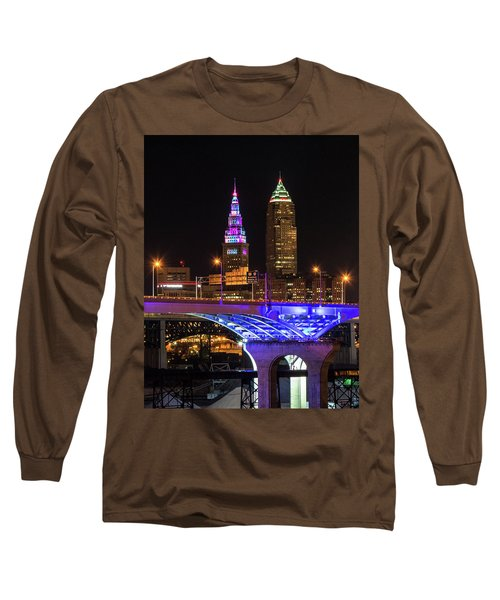 Rainbow Tower In Cleveland Long Sleeve T-Shirt