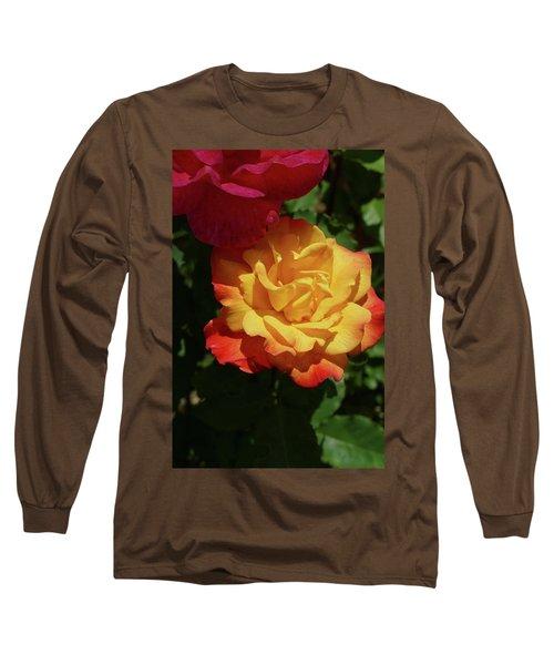 Red And Yellow Rio Samba Roses Long Sleeve T-Shirt