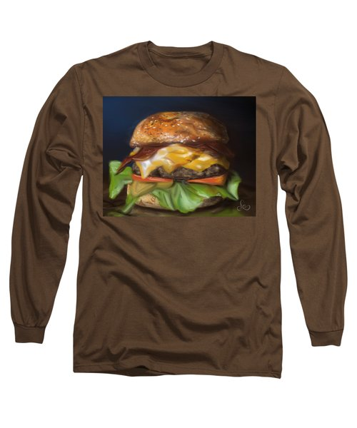 Long Sleeve T-Shirt featuring the pastel Renaissance Burger  by Fe Jones