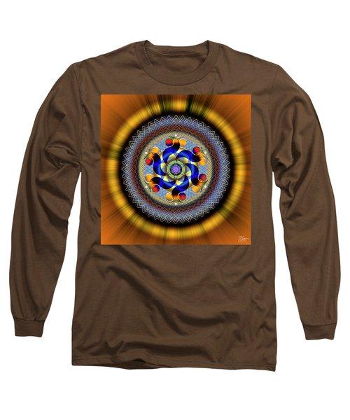 Sacred Geometry 740 Number 1 Long Sleeve T-Shirt