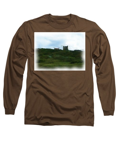Scarborough Castle Painting Long Sleeve T-Shirt