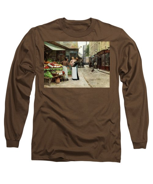 Scene On A French Market, Old Paris Long Sleeve T-Shirt