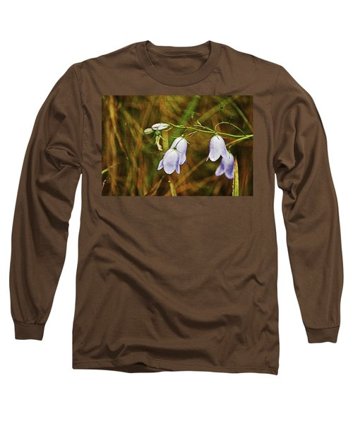 Scotland. Loch Rannoch. Harebells In The Grass. Long Sleeve T-Shirt
