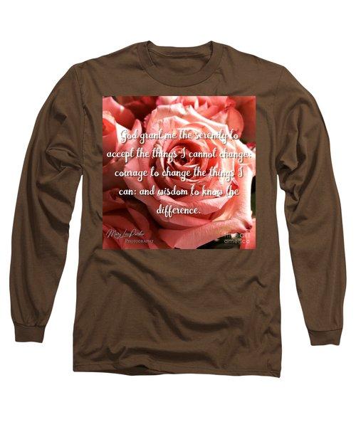 Serenity Prayer II Long Sleeve T-Shirt